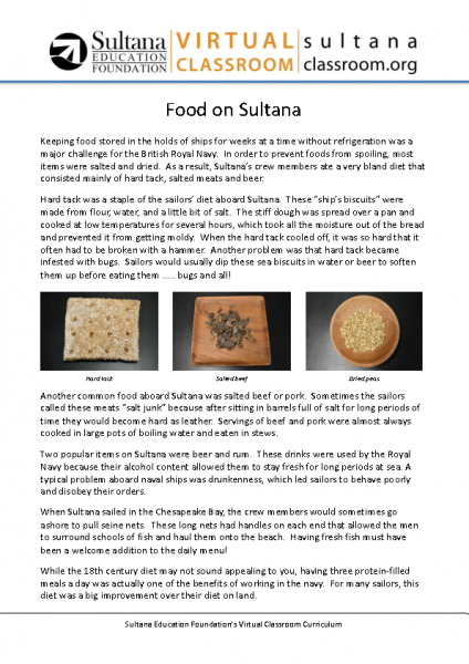 Food on Sultana Text