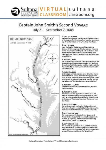 John Smith_s Second Voyage Map