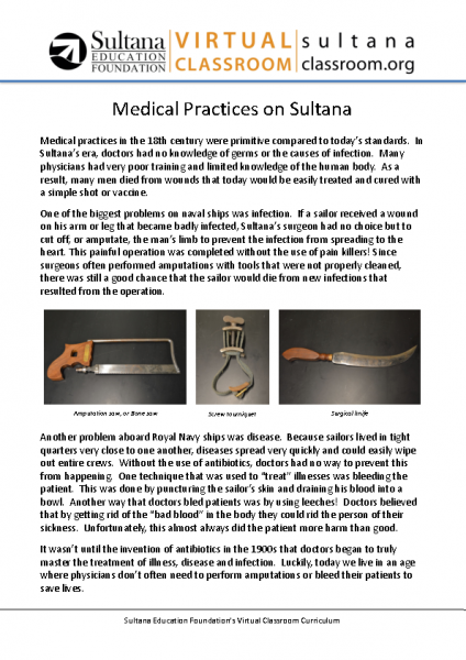 Medical Practices on Sultana Text