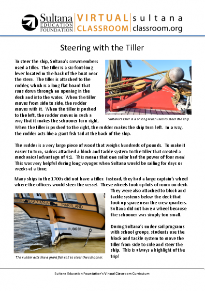 Steering with the Tiller