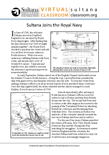 Sultana Joins the Royal Navy