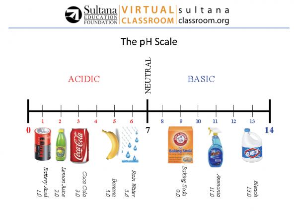 pH Scale Visual Aid