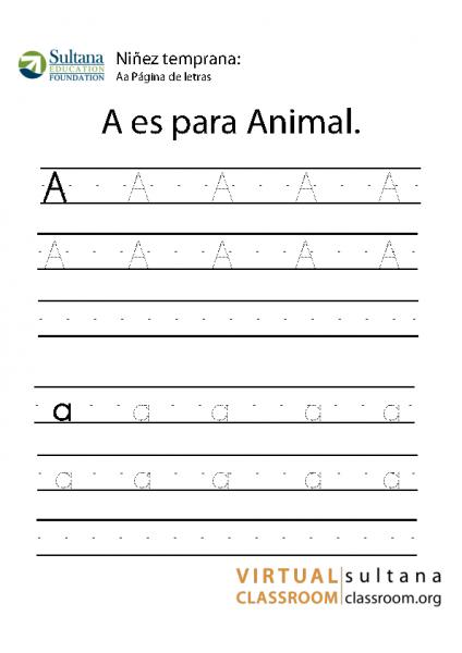 Aa Página de letras
