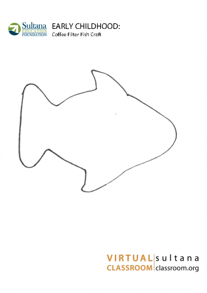 Coffee Filter Fish Template