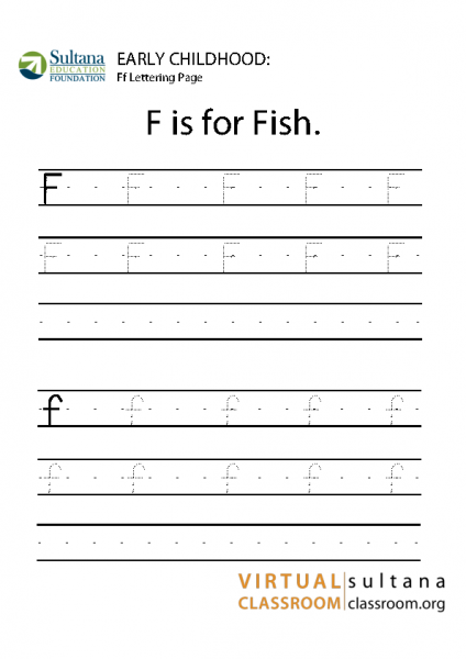 Fish – Ff lettering page