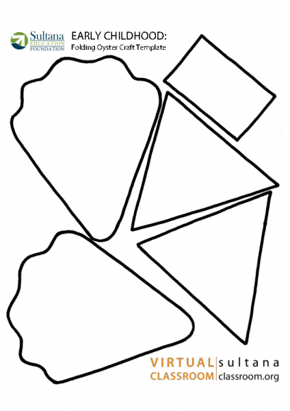 Folding Oyster Craft Template