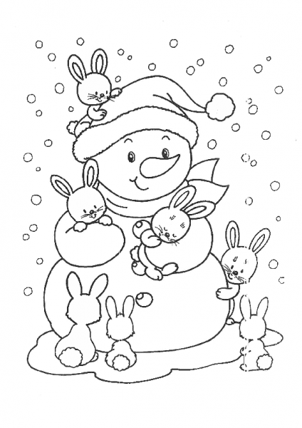 Let it Snow Coloring Page