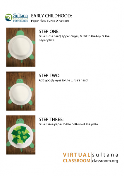 Paper Plate Turtle Directions