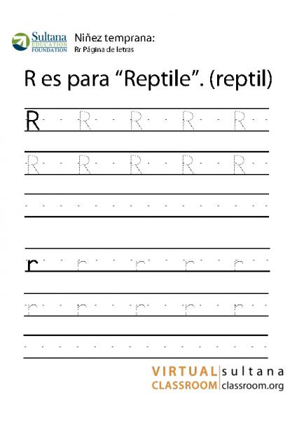 Rr Página de letras