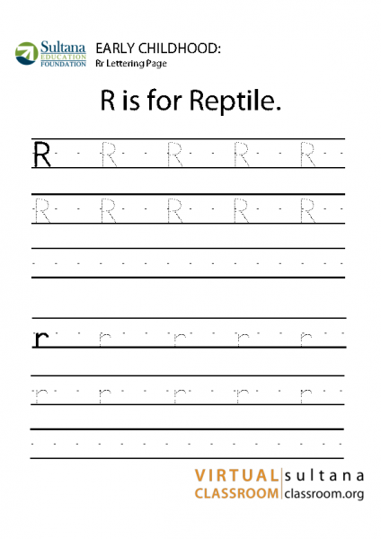 Rr lettering page
