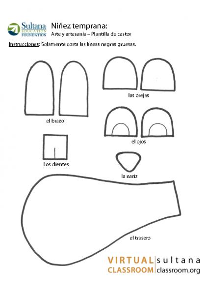 Arte y artesanía – Plantilla de castor