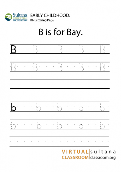 Bb lettering page