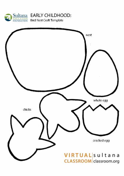 Bird Nest Craft Template